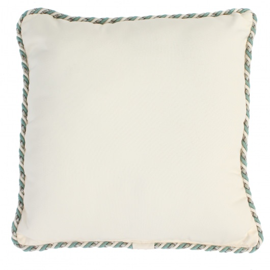 Cream Corded Outdoor Throw Pillow