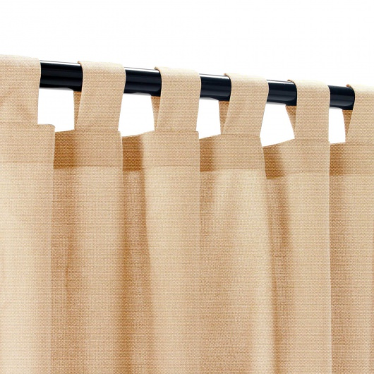Sunbrella Canvas Camel Outdoor Curtain with Tabs