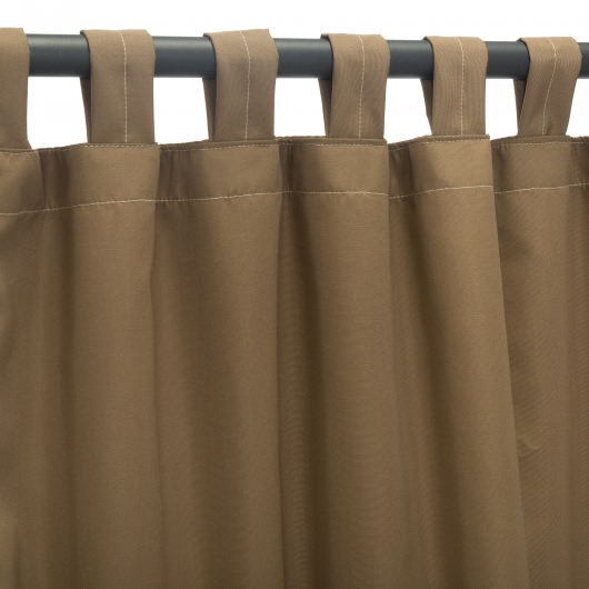 Sunbrella Canvas Cocoa Outdoor Curtain with Tabs