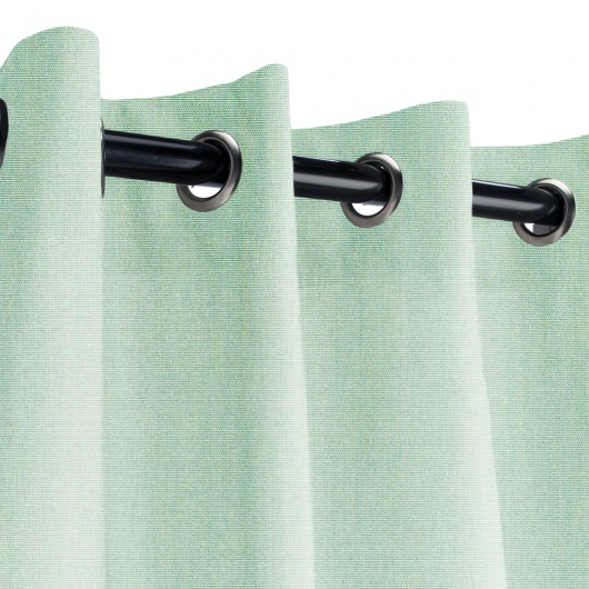 Sunbrella Canvas Spa Outdoor Curtain with Grommets