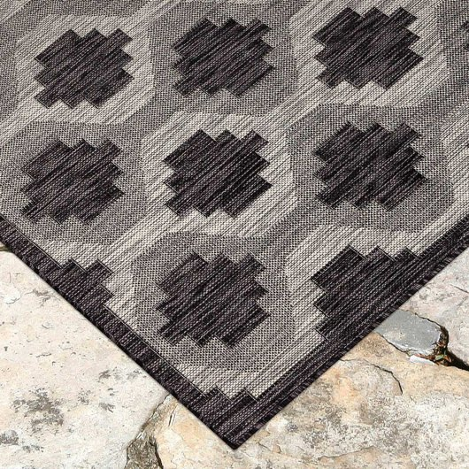 Carmel Modern Geo Black Indoor/Outdoor Rug