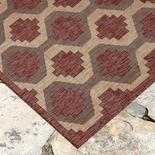 Carmel Modern Geo Red Indoor/Outdoor Rug