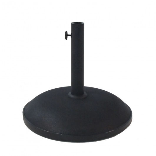 55 Lbs. Round  Black Concrete Umbrella Base