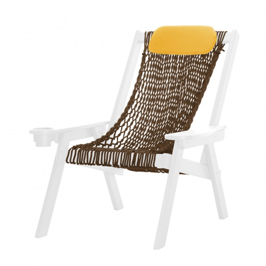 Coastal White Rope Chair
