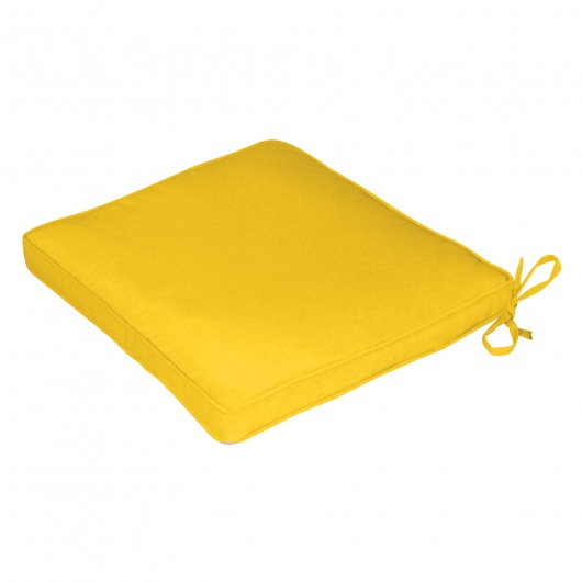 Square Back Sunbrella Seat Cushion Box Edge Yellow Options