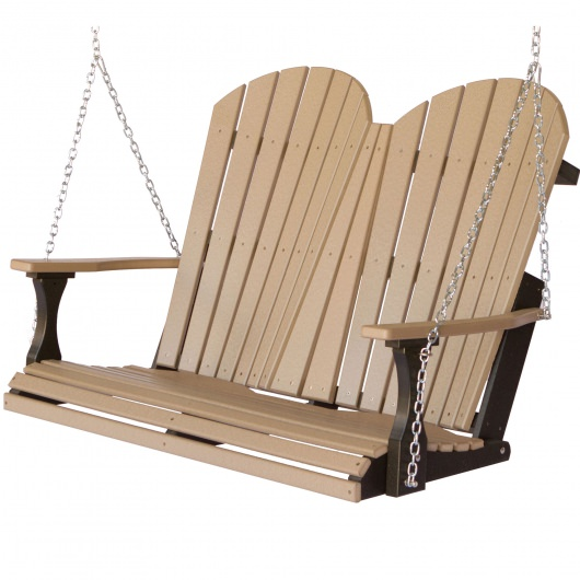Comfo-Back Double Porch Swing with Zinc Plated Chains