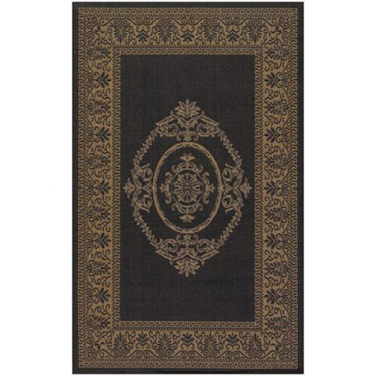 Recife Antq Medallion Black/Cocoa Outdoor Rug