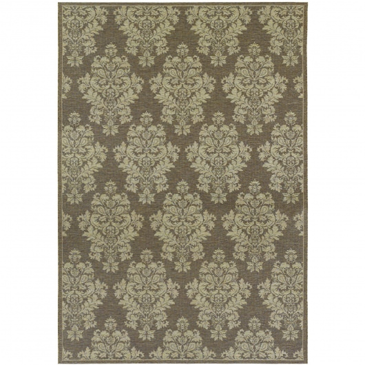 Dolce Veneto Brown and Beige Outdoor Rug