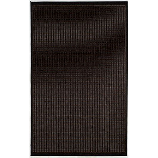 Recife Saddle Stitch Black/Cocoa Outdoor Rug (1 ft 8 in x 3 ft 7 in)