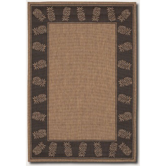 Recife Tropics Cocoa/Black Outdoor Rug