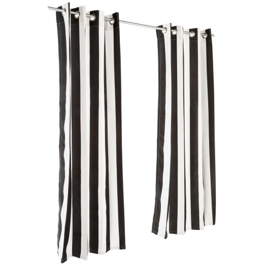 Sunbrella Cabana Classic Outdoor Curtain with Nickel Plated Grommets