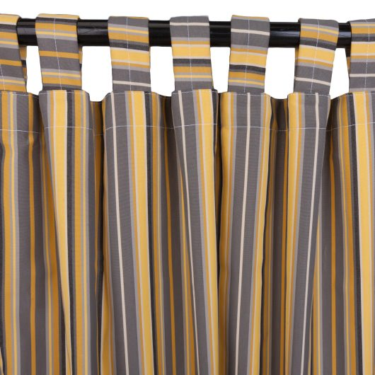 Sunbrella Foster Metallic Outdoor Curtain with Tabs in 50 in x 96 in