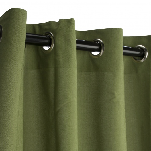 Spectrum Cilantro Sunbrella Nickel Grommeted Outdoor Curtain