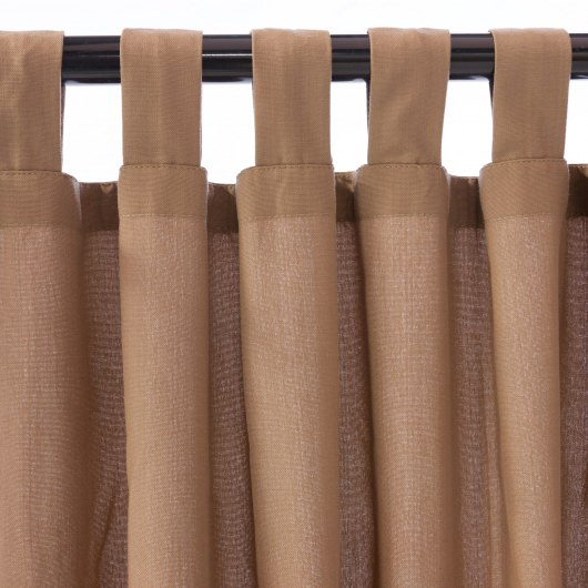 Deep Tan WeatherSmart Outdoor Curtain with Tabs