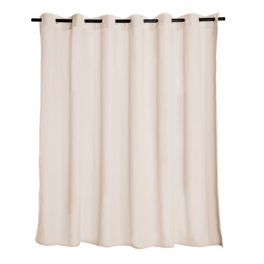 Cream Extra Wide Outdoor Curtain