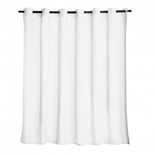 White Extra Wide Outdoor Curtain
