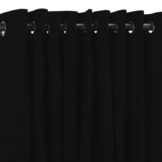 Black Extra Wide Outdoor Curtain