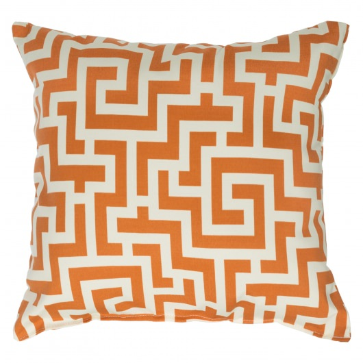 Tangerine Keyes Outdoor Throw Pillow 18 in. x 18 in. Square