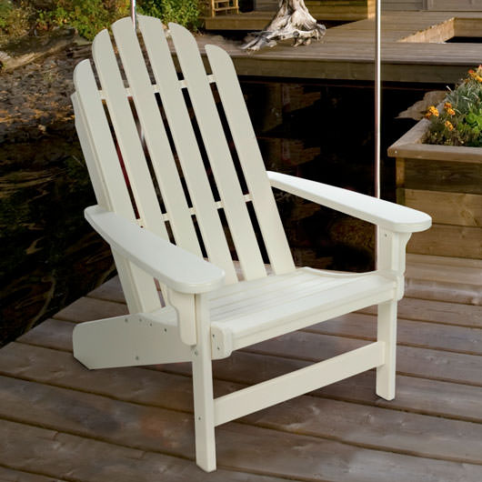 Charmant Lifetime Essential Adirondack Chair   White
