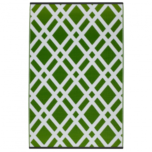 Dublin Lime Green and White Outdoor Mat