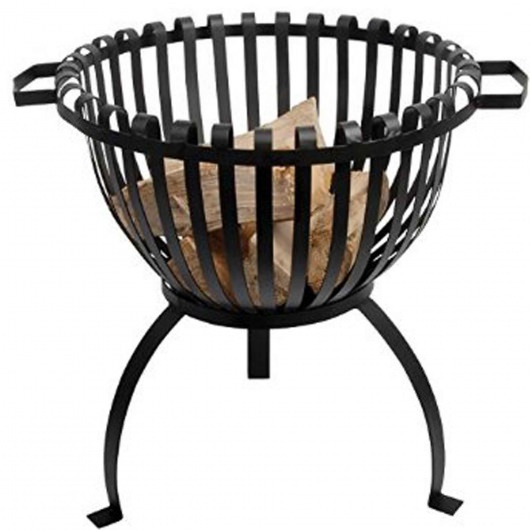 Tulip Fire Basket- Cast Iron