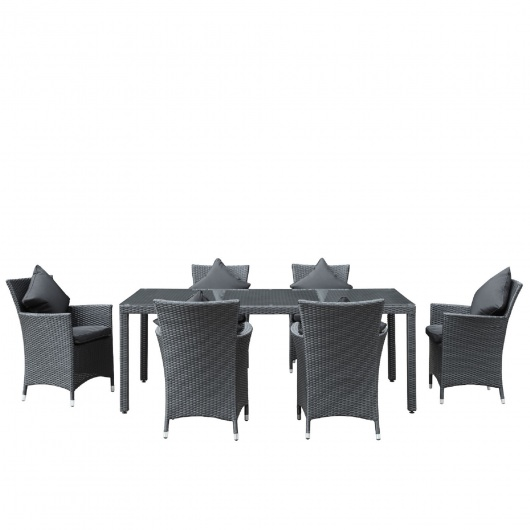 Modway Panorama 7 Piece Outdoor Wicker Dining Set