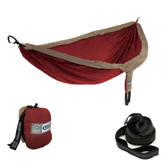 ENO Double Nest Hammock with Insect Shield and Castaway Travel Hammocks Straps