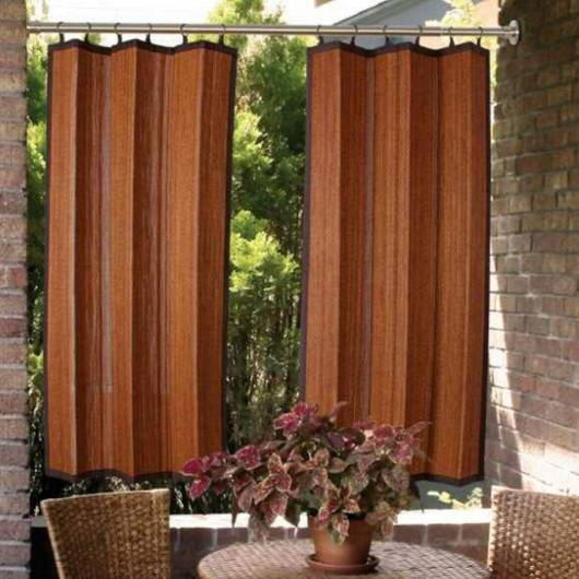 Espresso Mix Ring Top Bamboo Indoor/Outdoor Panel