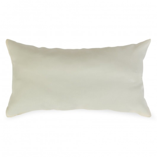 Cream Outdoor Throw Pillow 19 in. x 10 in. Rectangle/Lumbar