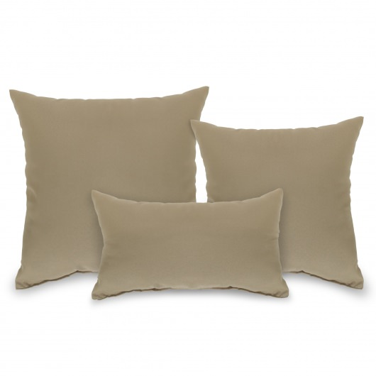 Tan Outdoor Throw Pillow