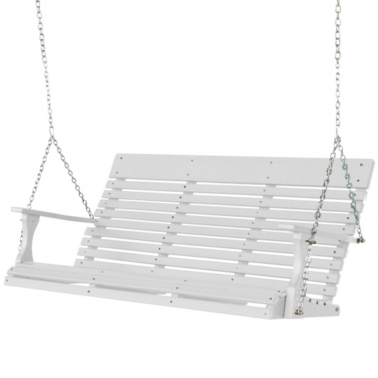 white porch swing with stand home depot walmart extra wide plastic recycle gardens