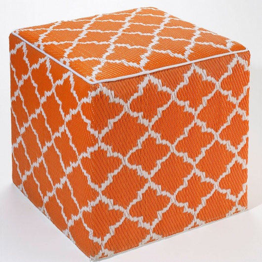 Tangier Carrot and White Outdoor Cube