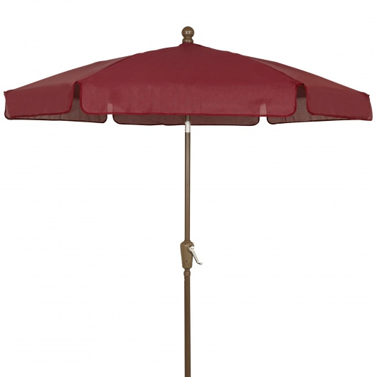 7.5 Ft Crank Lift Garden Umbrella with Bronze Pole