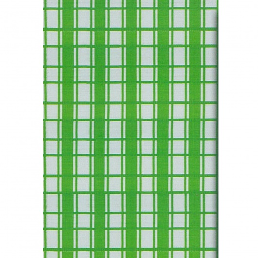 Plaid Light Green Outdoor Mat 4ft x 6ft