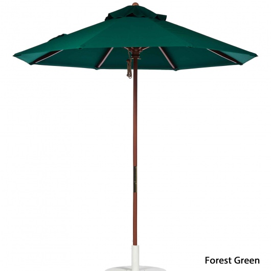 9 Ft. Pulley Wooden Market Umbrella