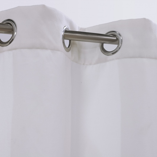 White Forever Polyester Outdoor Curtain
