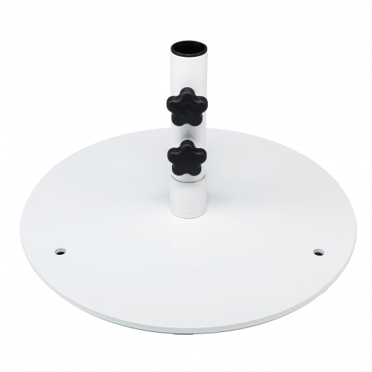 20 in. Round Steel Plate Umbrella Table Base
