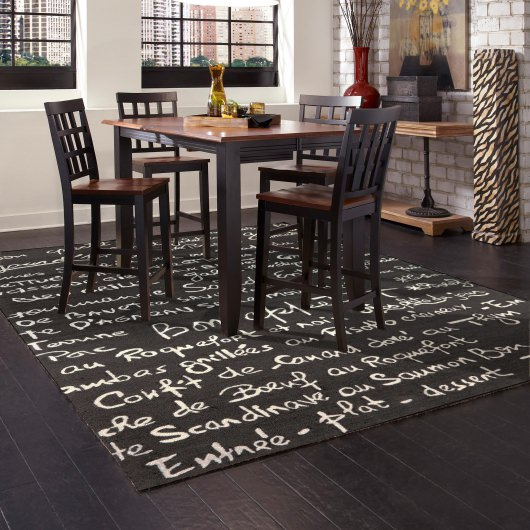 Frontporch Bistro Charcoal Outdoor Rug
