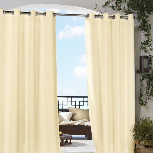 Natural Gazebo Polyester Outdoor Curtain