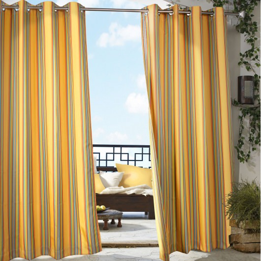 Rainbow Gazebo Polyester Outdoor Curtain