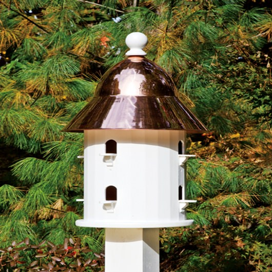 Bell Bird House with Polished Copper Roof
