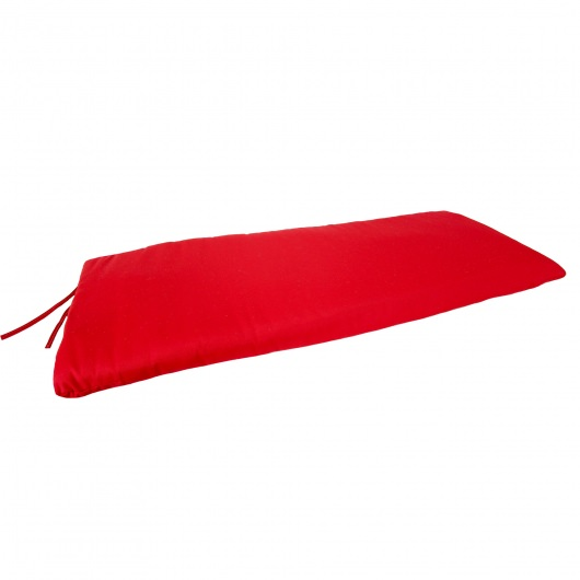Pompei Red Knife Edge Bench, Swing, and Glider Cushion