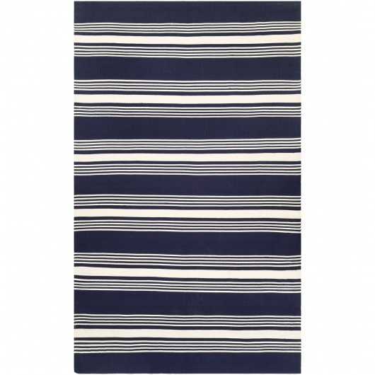 Grand Cayman Admiral Navy and Ivory Outdoor Rug
