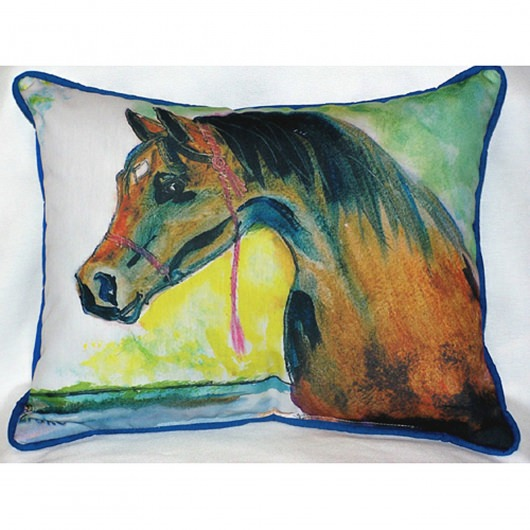 Prize Horse Outdoor Pillow