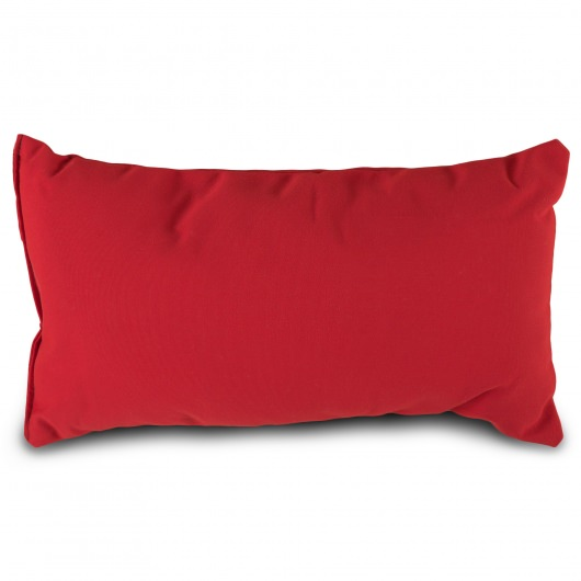 Jockey Red Sunbrella Outdoor Throw Pillow 19 in. x 10 in. Rectangle/Lumbar