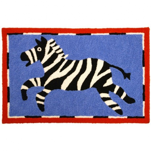 Jellybean Zebra Outdoor Door Mat