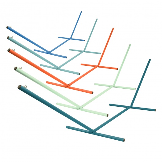 The Ultimate 15 ft. Steel Hammock Stand Made in the USA with Vibrant Colors Powder Coating