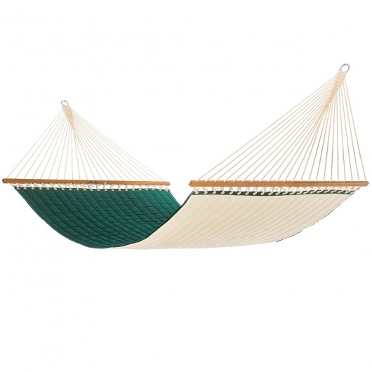 Large Quilted Fabric Hammock - Canvas Forest Green