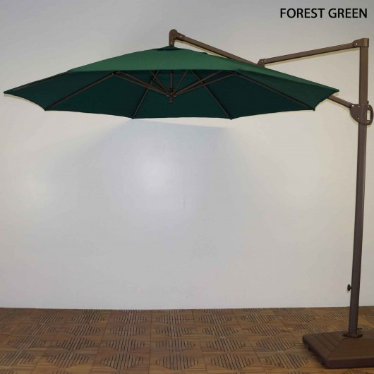11 ft. Acrylic Cantilever Umbrella with Single Windvent Cover