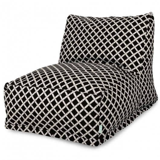 Black Bamboo Outdoor Bean Bag Chair